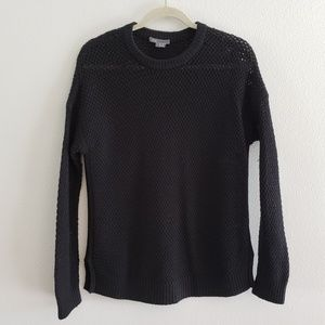Vince Black Open Knit Sweater Size Small